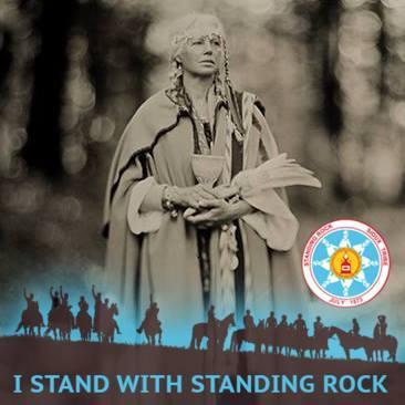Cercle de tambours en soutien aux gardiens de l'eau de Standing Rock