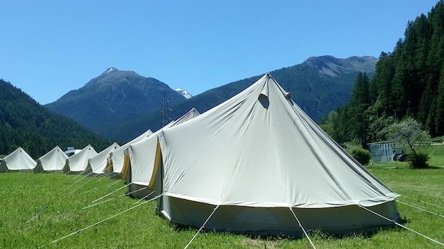 Tipi Bell Tents à louer par notre partenaire