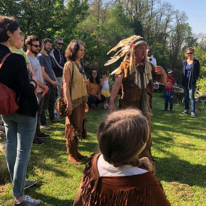 Camp des gardiens de la Terre « tribu amérindienne »